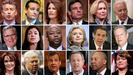 Potential candidates for the 2016 presidential election (Photo from The Hill)